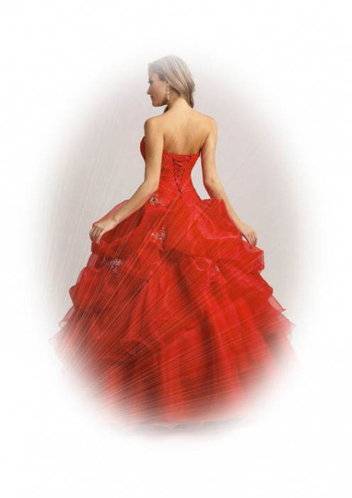 Ebay'sRed Deb Pageant Quinceanera Wedding Dress