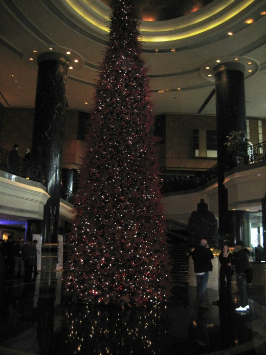 Christmas Tree in the lobby of my hotel in Hong Kong.