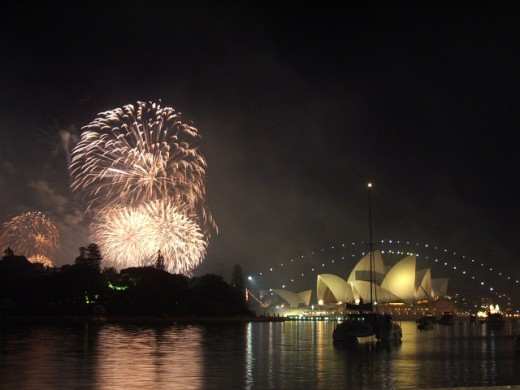 Sydney on New Year's Eve.