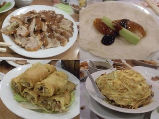 Eatting Beijing duck must combined with  pancakes