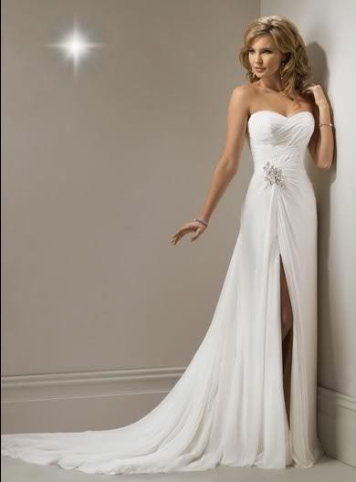 Sweetheart Beach Chiffon Wedding Dress Ebay