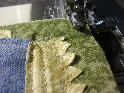 Sew all around the edges using a zigzag or satin stitch.