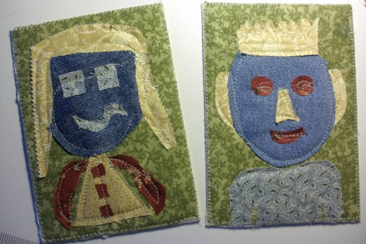 These fabric avatar postcards are so much fun to make, you may want to make more than one!