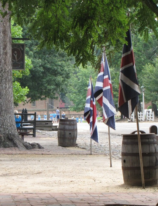 Along Colonial Williamsburg's Duke of Gloucester Street, there are plenty of reminders that America was once British.