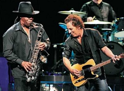 Clarence Clemens with Bruce Springsteen