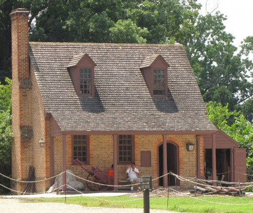 In Colonial Williamsburg, the guard house for the Magazine