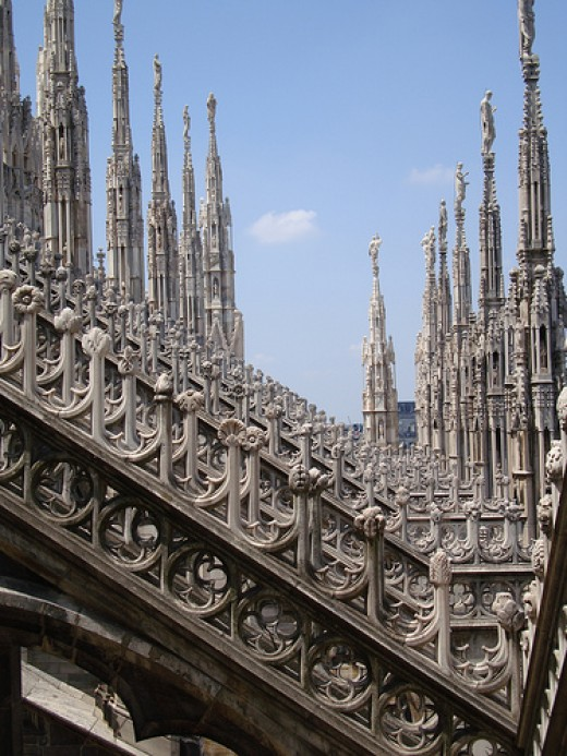 MIlan Cathedral Roof from mapaolini Source: flickr.com