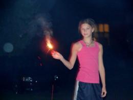 Celebrating with sparklers!