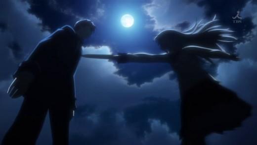 Otonashi meets Tenshi in the first episode.