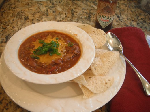 Hearty and healthy #1 Texas Chili.
