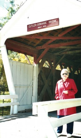 Cutler-Donahoe Covered Bridge and my mother