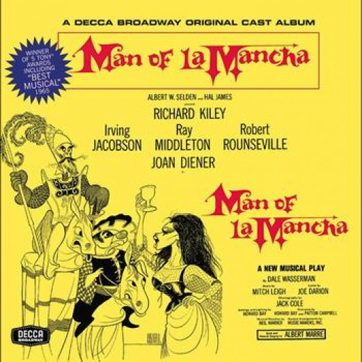 My beloved recording of Man of La Mancha, now replaced with a CD