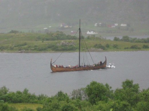 You could take a Viking longboat, if you prefer