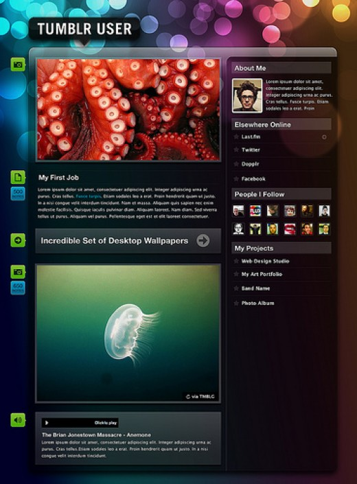 An example of a Tumblr Layout.