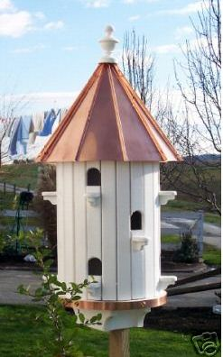 BirdHouse Amish-made with High Copper Roof 10-hole