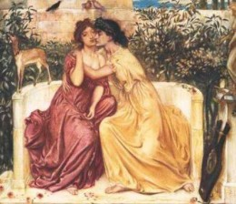 Sappho and Erinne in a Victorian era representation