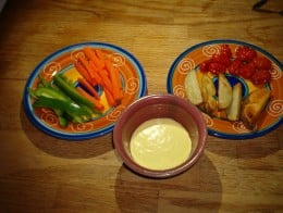 Liven up veggie sticks and wedges with some light aioli dipping sauce.