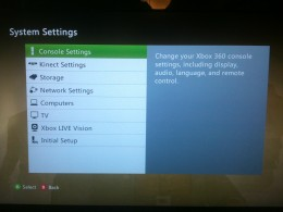 """Press the """"Xbox"""" button, select """"Settings"""" and then select """"System Settings"""" to get to this window. Select """"Storage"""" in this window."""