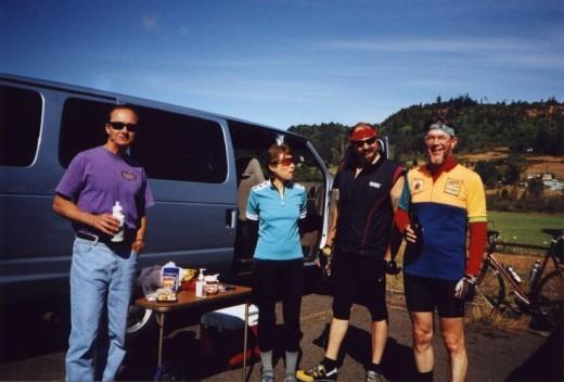 A jolly crew near Mary's Peak in Oregon