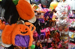 LOTS of costumes- Halloween costumes in this case (these photos were taken in October)