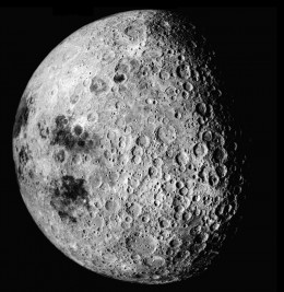 Dark side of the Moon as captured by Apollo (Click to enlarge)