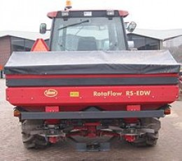 A large, modern fertilizer spreader