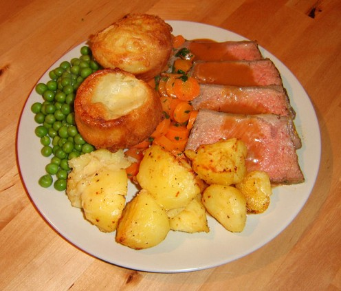 The gravy helps to make a meal complete