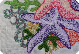 February is national embroidery month. This is truly a beautiful piece of embroidery.