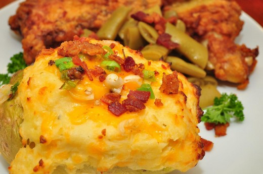 Twice Baked Baked Potato