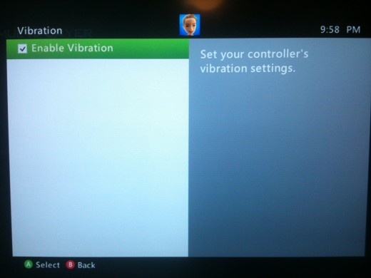 Uncheck the box that says Enable Vibration to turn that feature off and conserve battery power.
