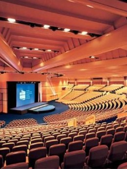 A dream stadium, the main auditorium at Darling Harbour in Sydney.   You'd need to be good to draw a crowd big enough to fill this one.