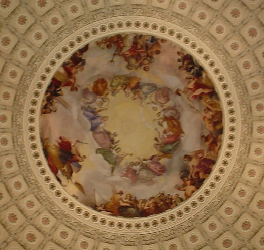 The dome over the Capitol Rotunda may be the only ceiling Congress will observe.
