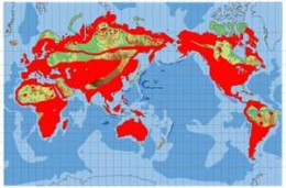Peregrine Falcon Natural Habitat Distribution Map