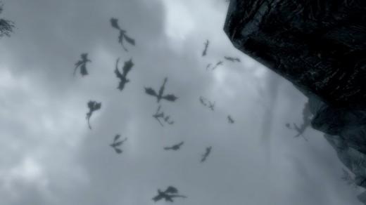 Warning: spawning too many dragons might cause Skyrim to crash. :P