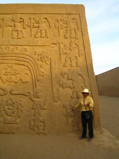 Inner wall at Chan Chan