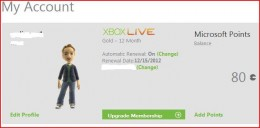 "Click the ""Change"" button beneath the Xbox Live logo."