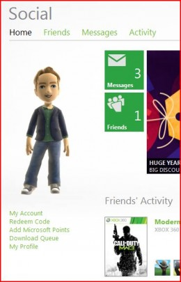 Access your account information by clicking the My Account link beneath your avatar on the left side of your Xbox Live Home page.