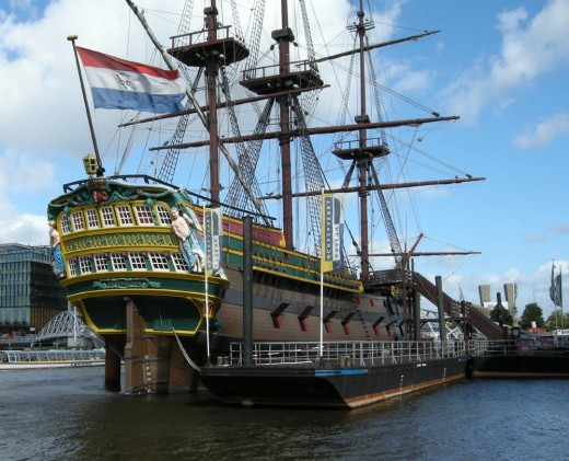 VOC replica cargo ship, Amsterdam