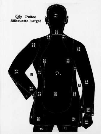 Police Silhouette Gun Target