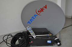 Tatasky satellite TV receiver. Direct to home service DTH.