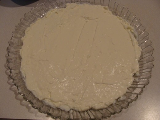 Sour cream and cream cheese mixture.
