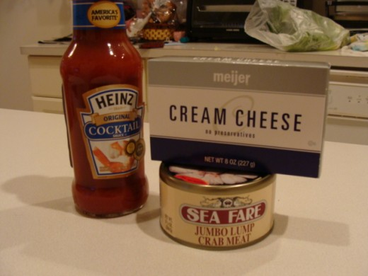 Ingredients for the dip.
