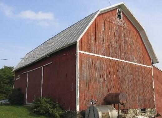 A gambrel roof