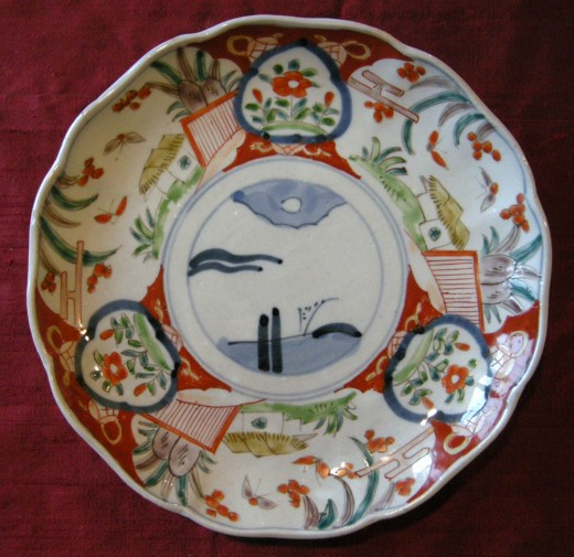 Imari plate with whale