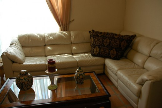 Complete sofa set with sofa table