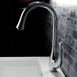 Kitchen Faucet by Sino single handle tall in chrome