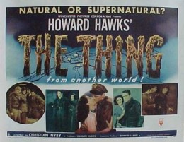 "Promotional poster for the 1951 Movie, ""The Thing From Another World"""
