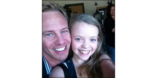 Jade Pettyjohn & Ian Ziering on Set