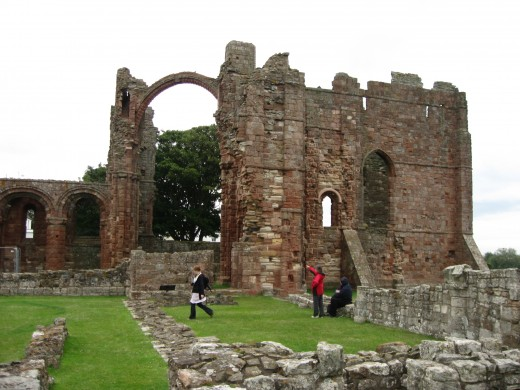 Lindisfarne Abbey itself... Or what's left of it