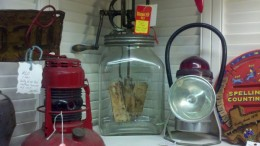 Some of the old glass butter churns are still very functional.  This one has been marked down due to the poor economy and needed sales.